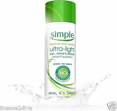 SIMPLE SKINCARE ULTRA-LIGHT GEL MOISTURIZER! ALL NATURAL! MADE IN CANADA! NEW!