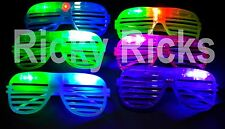 50 PCS LED Glasses Shutter Sunglasses Glow Shades Flashing Rave Wedding Supplies