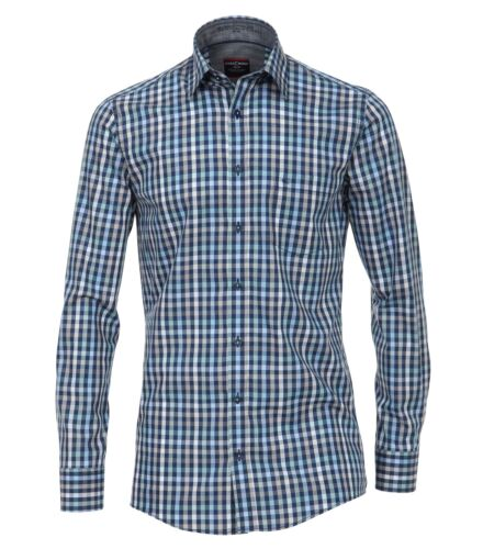 Casa Moda-Comfort fit-Uomo Camicia A Quadri Con Kent Colletto 482894900