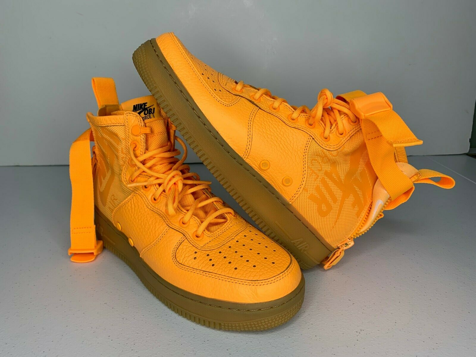 NEW Size 7.5 Nike SF AF1 Air Force 1 Mid OBJ Odell Beckham Jr 917753-801 orange