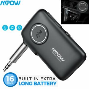 Mpow-3-5mm-Bluetooth-5-0-AUX-Audio-Car-Receiver-Adapter-w-Mic-Home-Stereo-Music