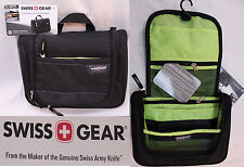 SWISS GEAR by Wenger Travel Organizer Hanging Toiletry Bag Black/Green SA2312