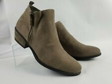 Women/'s Shoes Bamboo Sadie 21V Casual Chunky Heel Zipper Booties Black FS *New*