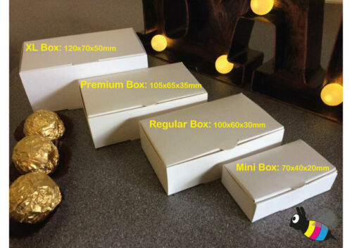 30•50•100 White Single Slice Wedding Party Favour Cake Boxes Bargain • 4 Sizes