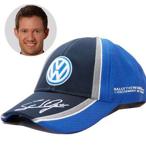 NEW OFFICIAL SEBASTIEN OGIER VW WRC PODIUM BASEBALL HAT CHAMPION SIGNATURE CAP