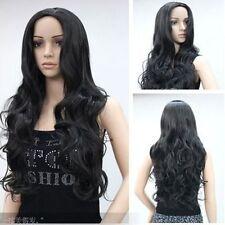 CHWJ464  charming black long curly health hair wig wigs for modern women