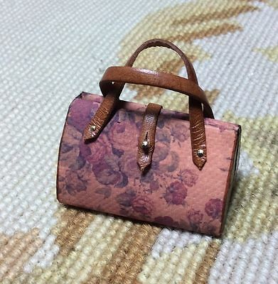 Pat Tyler Dollhouse Miniature Canvas Designer Purse Bag Luggage Valise p705