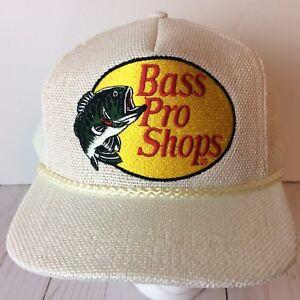 c6fcda85aab Image is loading Vintage-Bass-Pro-Shops-Snapback-Trucker-Hat-Baseball-