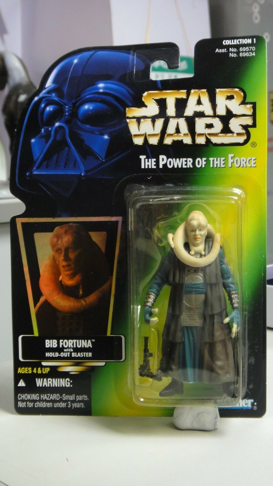 KENNER STAR WARS POTF 1 538955.00 .00 BIB FORTUNA WITH WITH WITH HOLD-OUT BLASTER 69634 302e60