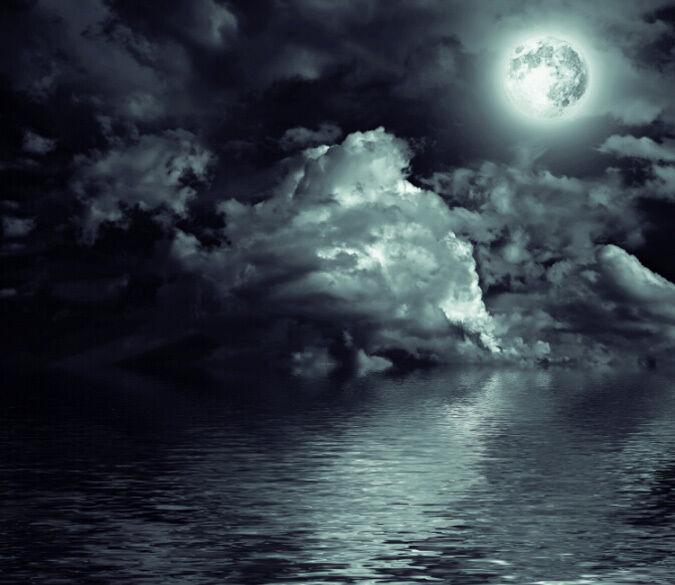3D In der Nacht,  SEE 4329 Fototapeten Wandbild Fototapete BildTapete Familie DE