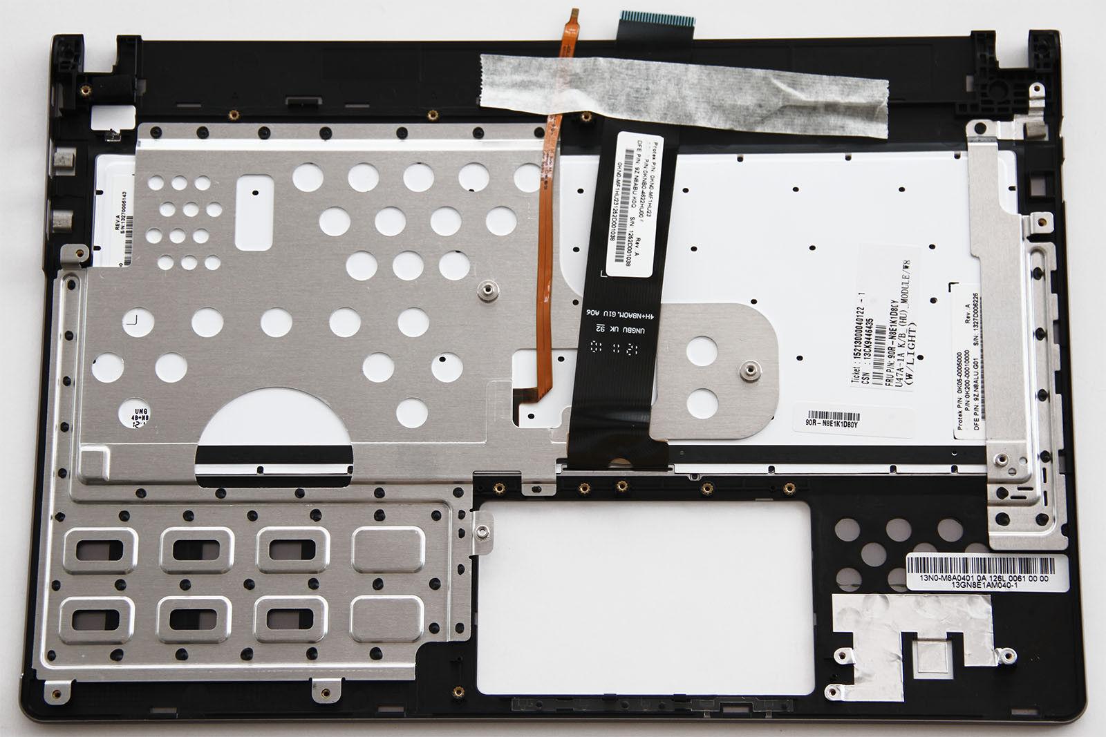 Hungarian HU Laptop Keyboard for Asus U47 U47A 90R-N8E1K1D80Y Backlit top case