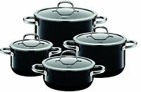 Wmf Silit Passion 8 Piece Cookware Set, Black Made In Germany on sale