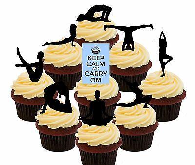 Awe Inspiring Yoga 36 Edible Cupcake Toppers Standup Fairy Cake Decorations Personalised Birthday Cards Vishlily Jamesorg