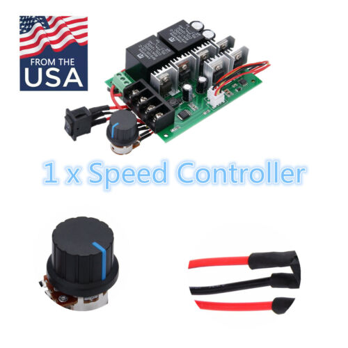 DC 12//24//36//48V 60A PWM Motor Speed Controller CW CCW Reversible Switch