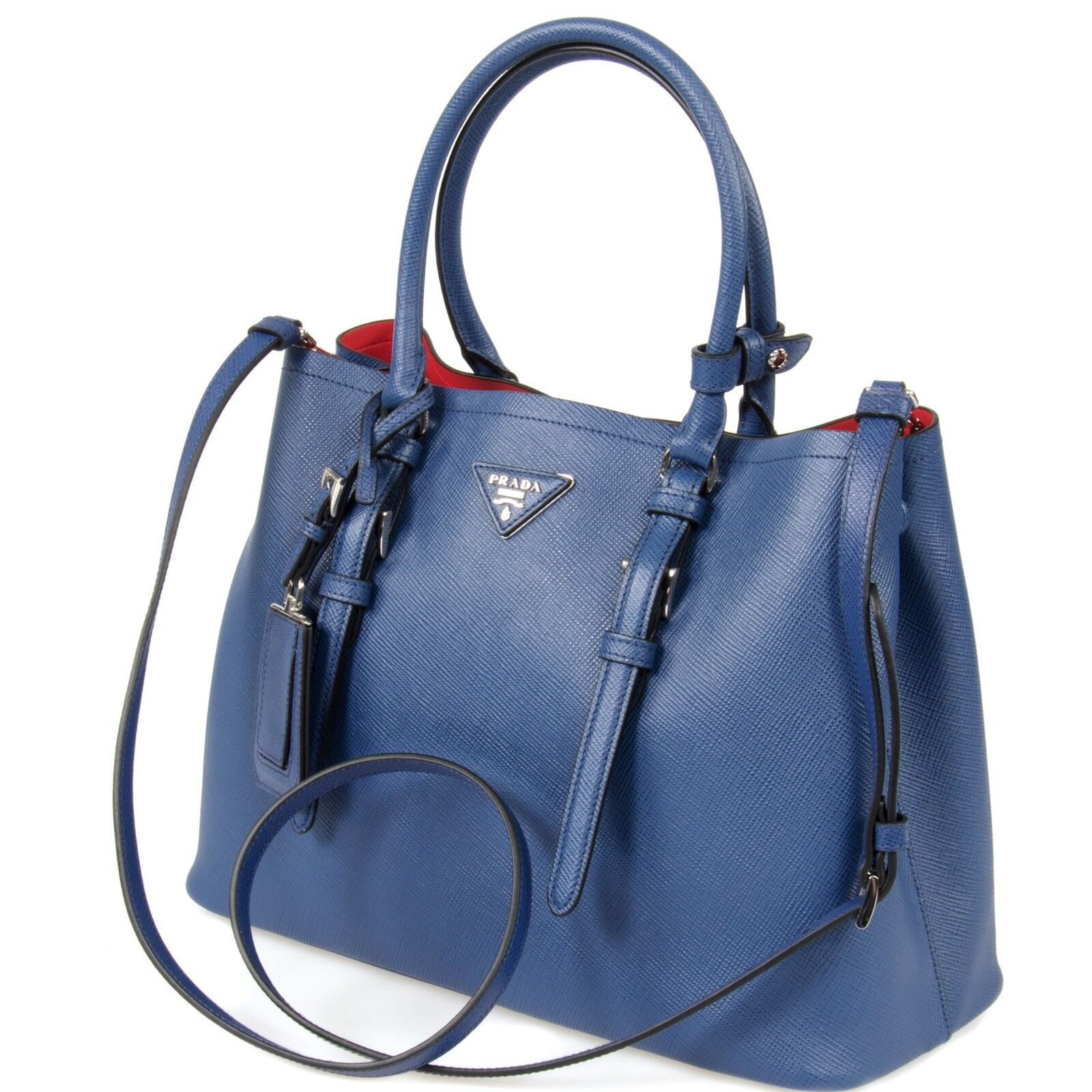 e77ec3004dff PRADA Double Leather Bag Model 1bg838 F0021 Inchiostro/ink Blue for ...