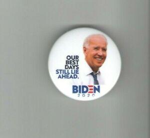 2020-pin-JOE-BIDEN-pinback-President-Campaign-Our-BEST-DAYS-Lie-Ahead