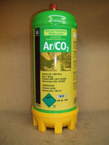 Argon//Co2 Mix Disposable Mig Welding Gas Maxxiline 1.8L /& Regulator to suit