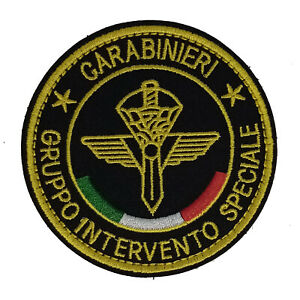 Ecusson Patch carabinieri gruppo intervento speciale  à Scratch ou à Coudre 8 cm