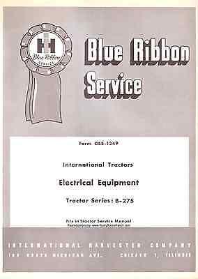 IH International Harvester B-275 Electrical Service | eBay on