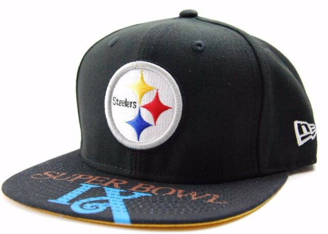Pittsburgh Steelers New Era 9Fifty NFL Football Team Super Bowl IX Snapback  Cap 068ba3248
