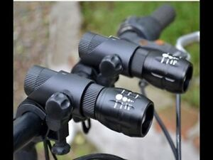 Due-Frontale-Zoom-LED-Luci-Bici-Focus-Set-Per-Mountain-Road-BMX-BICI-BICICLETTE