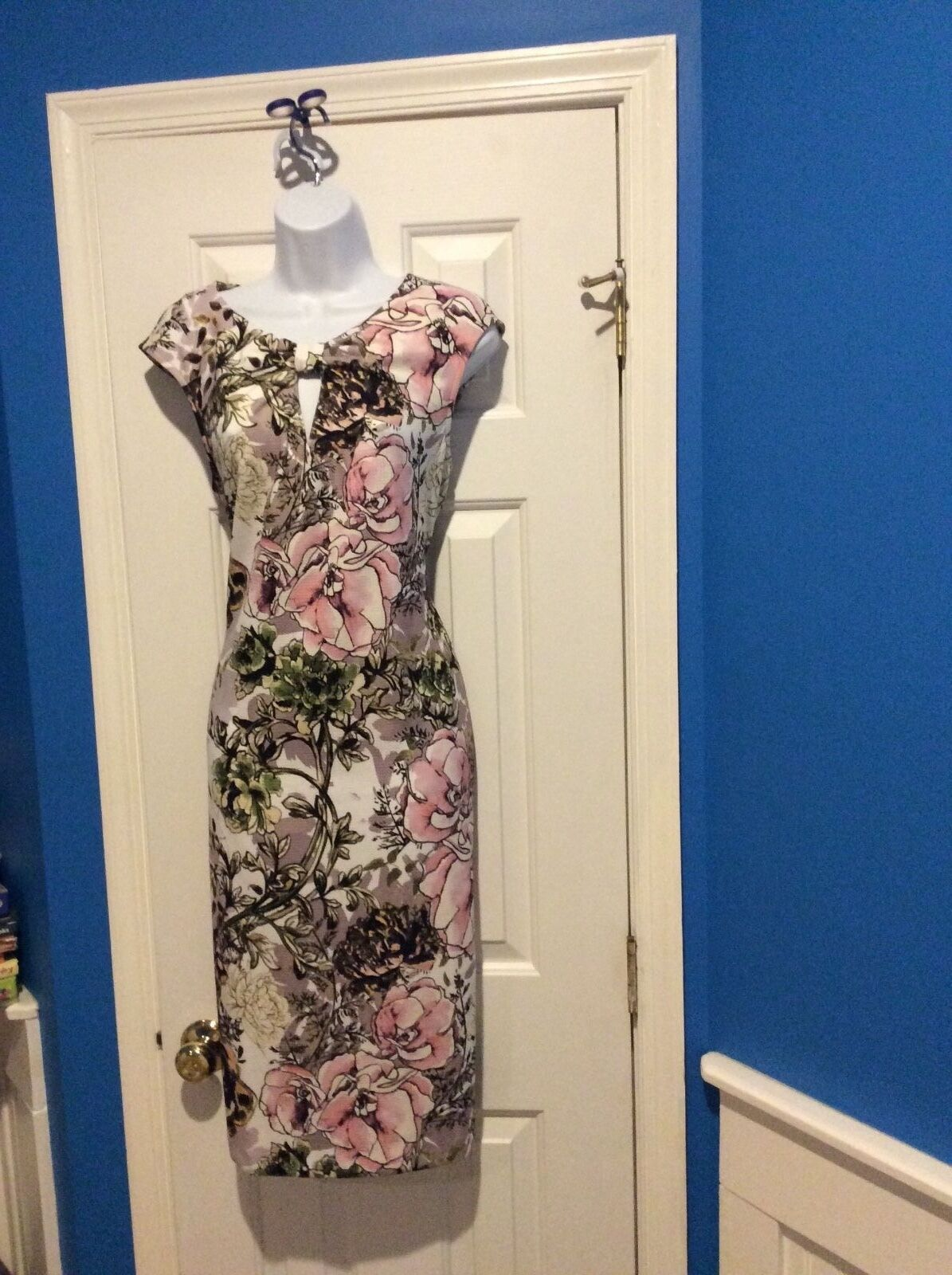 ECI Beige By Eci Sheath Dress Size L