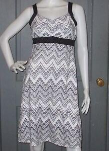 6335517da46 NWT print PRANA Black Tempo AMAYA dress S M sundress stretch NEW ...