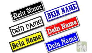 Namensschild-gestickt-10x3cm-Wunschtext-Biker-Kutte-Patch-Aufnaeher-Namensband-MC