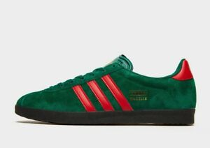 adidas Originals Gazelle Trainers in Green and Red Mens Shoes | eBay