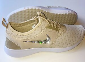 Bling Nike Juvenate Shoes w/ Swarovski Crystals * NUDE w/ Bedazzled Swooshes