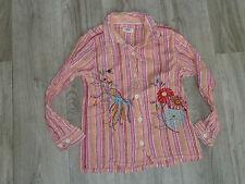BLUSE - Langarm - rosa orange - Stickerei - * ME TOO * - Gr. 116