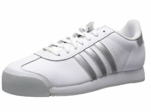 7b1c3ad58ba973 ADIDAS SAMOA LEATHER LOW SNEAKERS MEN SHOES WHITE SILVER AQ7906 SIZE ...