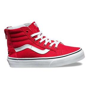 VANS KIDS SK8-Hi Zip (Varsity) Racing Red True All Sizes 10.5- 7 ... 2602058f7