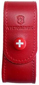 Victorinox - Etui Cuir Rouge Pour Couteau Suisse 91mm 6 A 14 Pièces - 4.0520.1