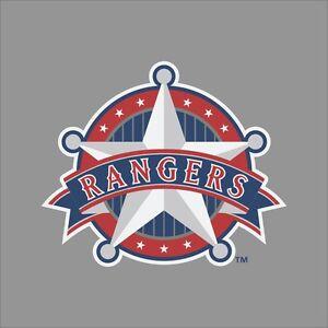 Texas Rangers 6 Mlb Team Logo Vinyl Decal Sticker Car