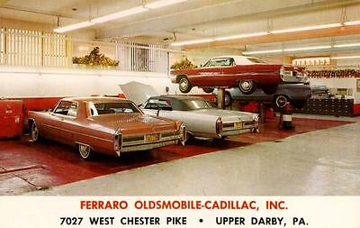 1961-2 Pennsylvania Langhorne Pitcairn Oldsmobile Auto Dealership Photo
