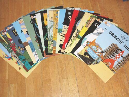 22 Tintin Poster Juego Tim /& Struppi Carteles Juntos Nuevo Menta Top RAR