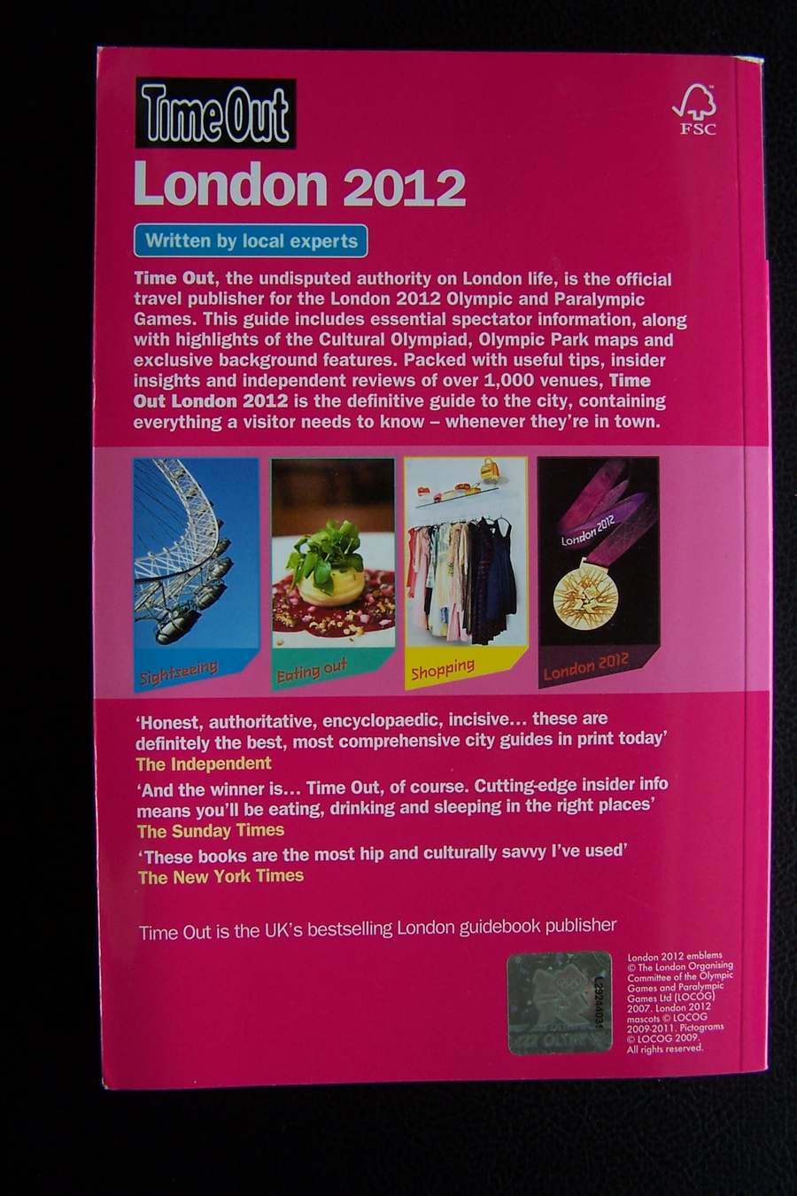 Time Out Official Guide to London 2012 (Time Out London