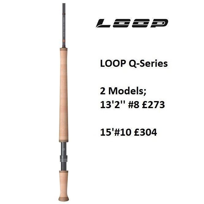 LOOP Q-Series Fly Rod 13'2''  8 4pce Medium Fast Action LQR8132-4MF  2018 Model