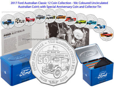 AUSTRALIA  2017 1 x 50c 50 CENTS RARE UNC COIN from FORD CLASSIC COLLECTION