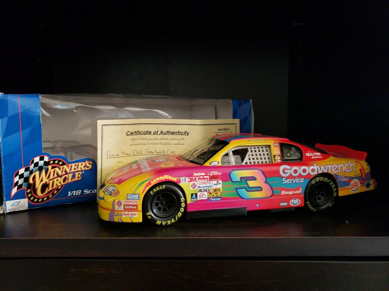 SIGNED By Peter Max Dale Earnhardt 1 18 Diecast