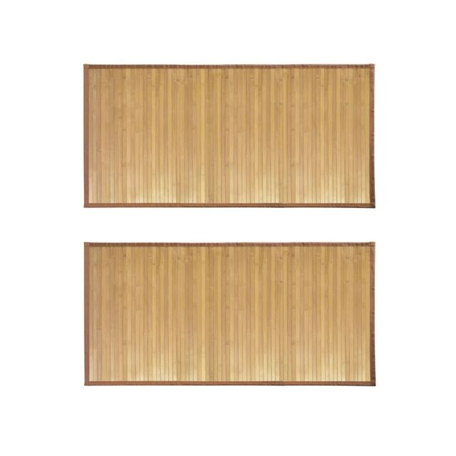 Interdesign Formbu Bamboo Floor Mat For Bathroom Entryway Kitchen Mudroom