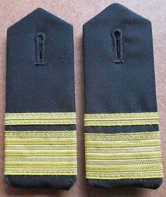 Bundeswehr Rangschlaufen Marine gelb auf oliv Kapitänleutnant 1 paar