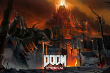 Hot he Ultimate DOOM Vintage Game New Art Poster 40 12x18 24x36 T-1379
