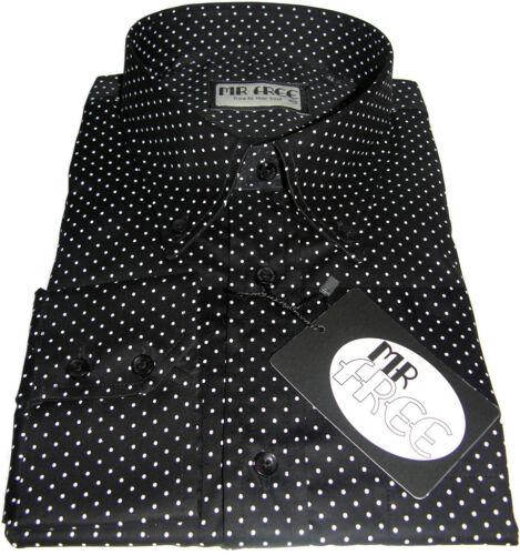 Coton Mr Polka Luxe Blanc Dot Free 3xl Chemise De Noir Nouveau S Taille Pin 08aqw