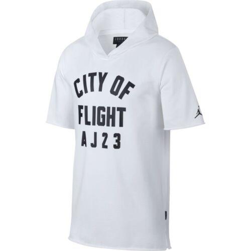 Jsw Flight korte 911317 Men hoodie met 100 New Of City Jordan Zwart Wit mouwen dtnRYqd