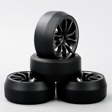 4pc 12mm Hex RC Drift Tires&Wheel Rim For 1:10 On-Road Racing Car KF#C12M PP0369