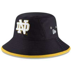 ee46b52f44e Notre Dame Fighting Irish New Era Hex Bucket Hat - Navy 191718518649 ...