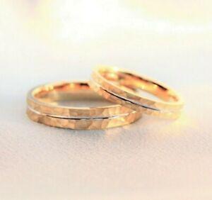 Couple Rings Gold 9k Solid Gold Rings Men Wedding Ring His Hers Wedding Rings Ebay
