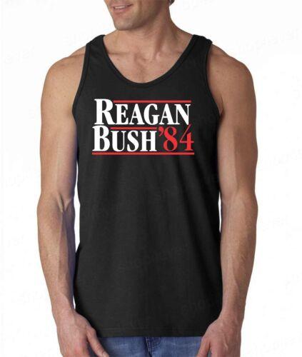 REAGAN BUSH`84 Tank Top Fun Political Election Ronald 80s Retro Republican Shirt